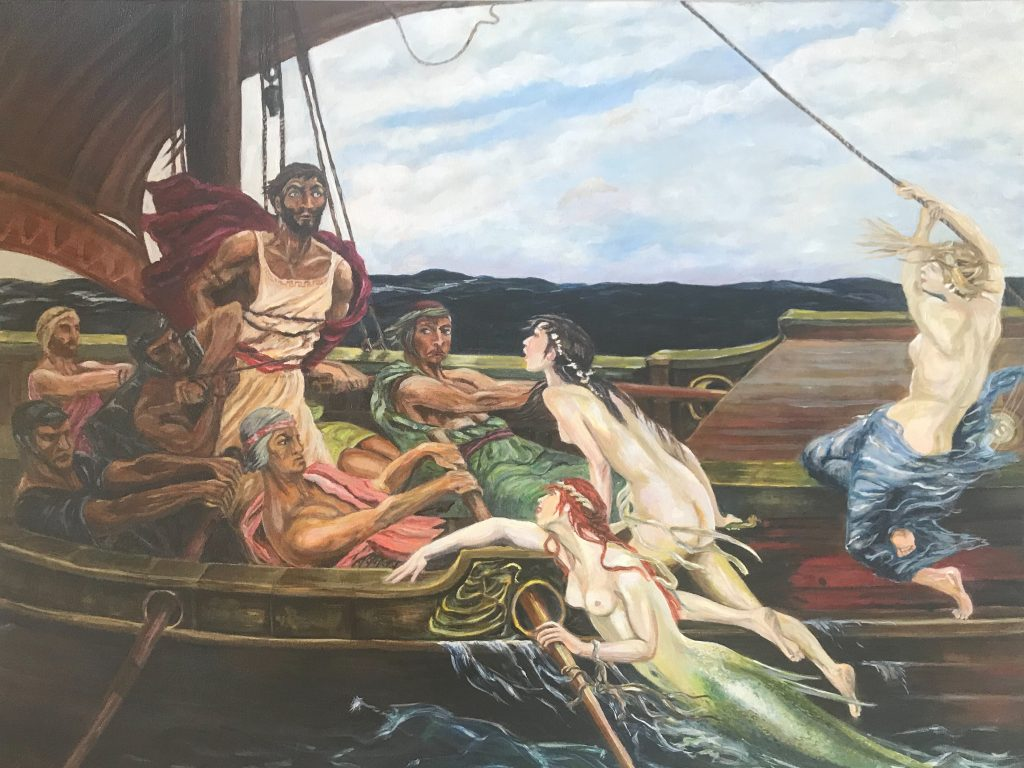 Oil painting reproduction of 'Ulysses and the Sirens'