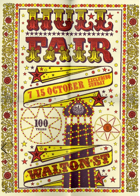 Hull Fair advertising poster from the Hull Museums collections