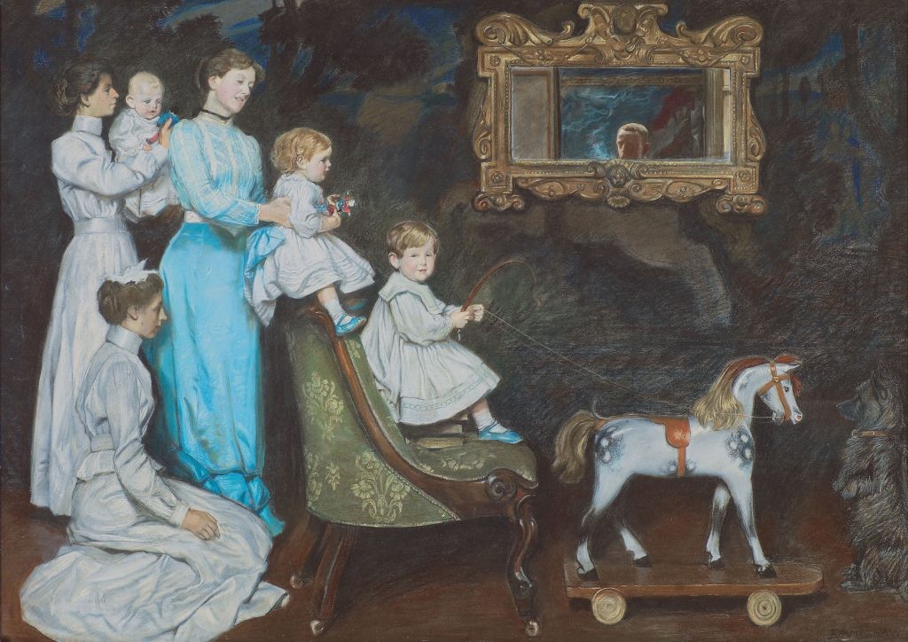 Humber Museums Partnership - Curator's Choice – My Wife, My Bairns and My Wee Dog, John, by John Byam Shaw (1872-1919), 1903
