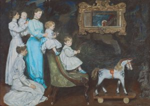 Curator's Choice – My Wife, My Bairns and My Wee Dog, John, by John Byam Shaw (1872-1919), 1903