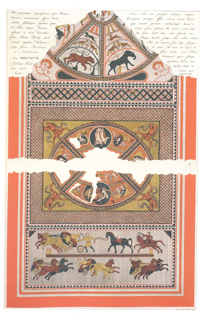 Fowler's drawing of the Horkstow Mosaic, 1796