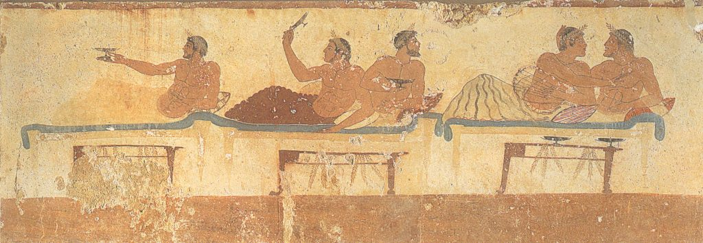 Symposion scene Tomb of the Diver, Paestum 470s BC