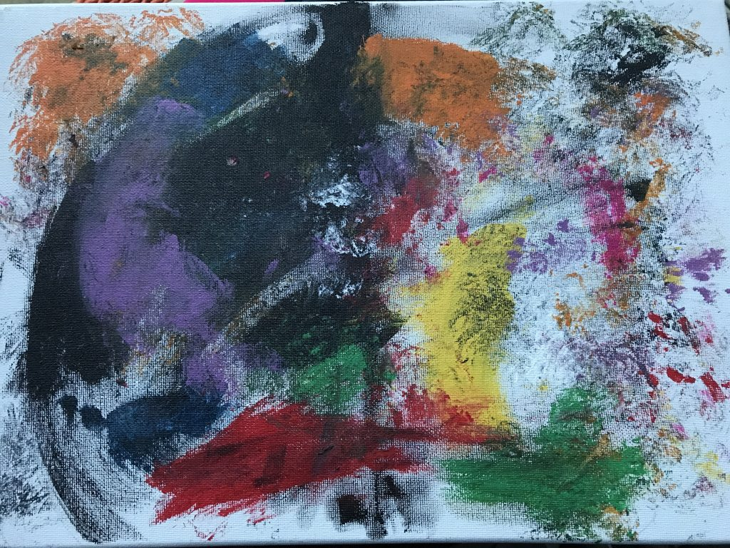 Colourful abstract painting.