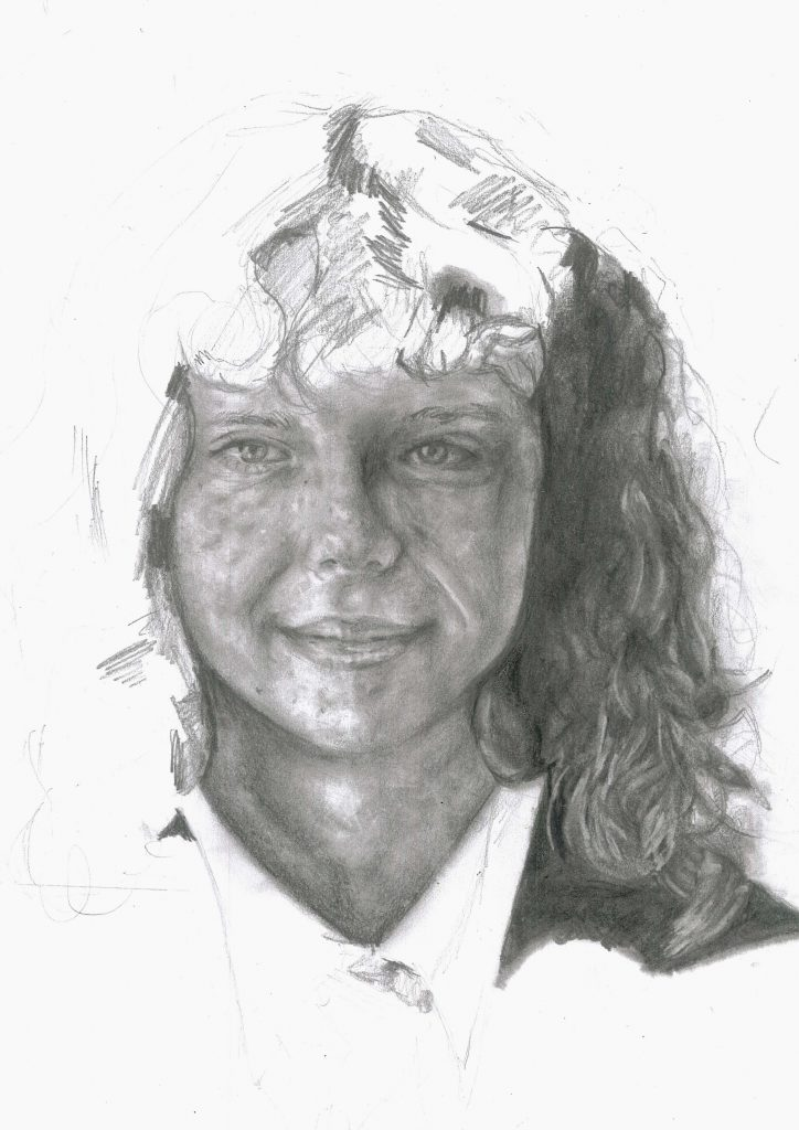 Pencil drawing portrait.