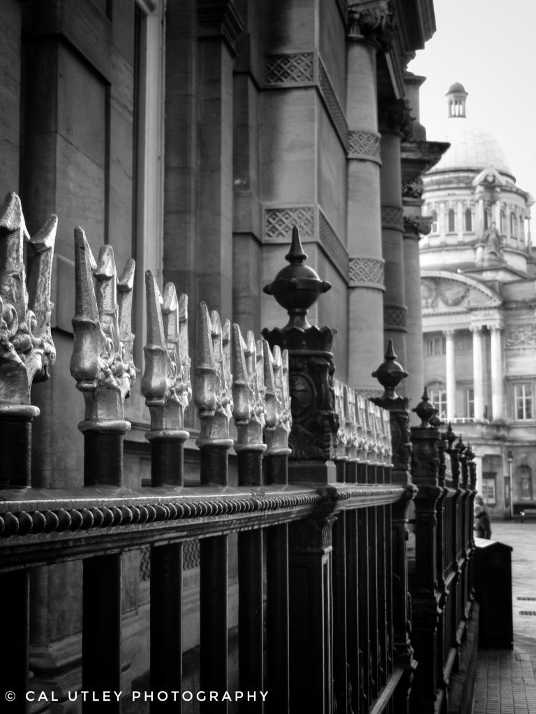 Black and white photograph of Hull city centre.