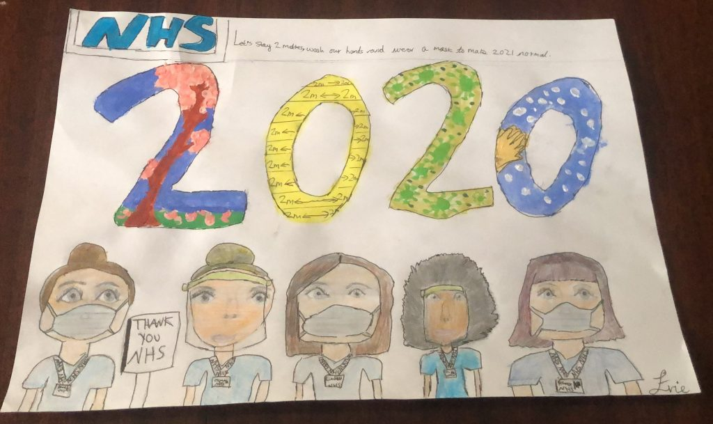 Drawing of 2020 NHS workers.