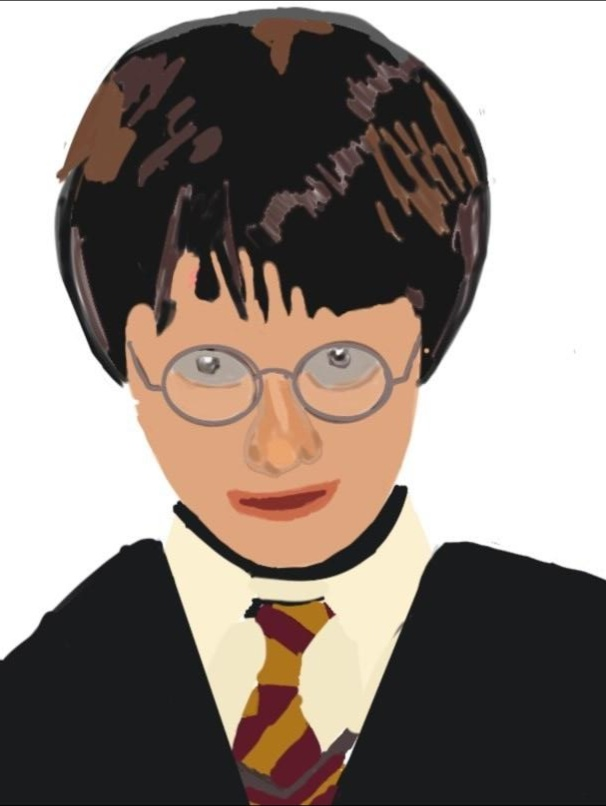 Digital portrait of Harry Potter.
