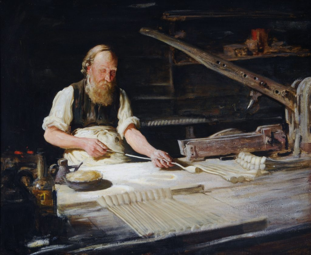 Humber Museums Partnership - Curator's Choice – The Last Beverley Pipemaker by Frederick William Elwell, c.1900