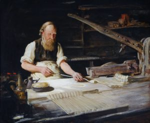 Curator's Choice – The Last Beverley Pipemaker by Frederick William Elwell, c.1900