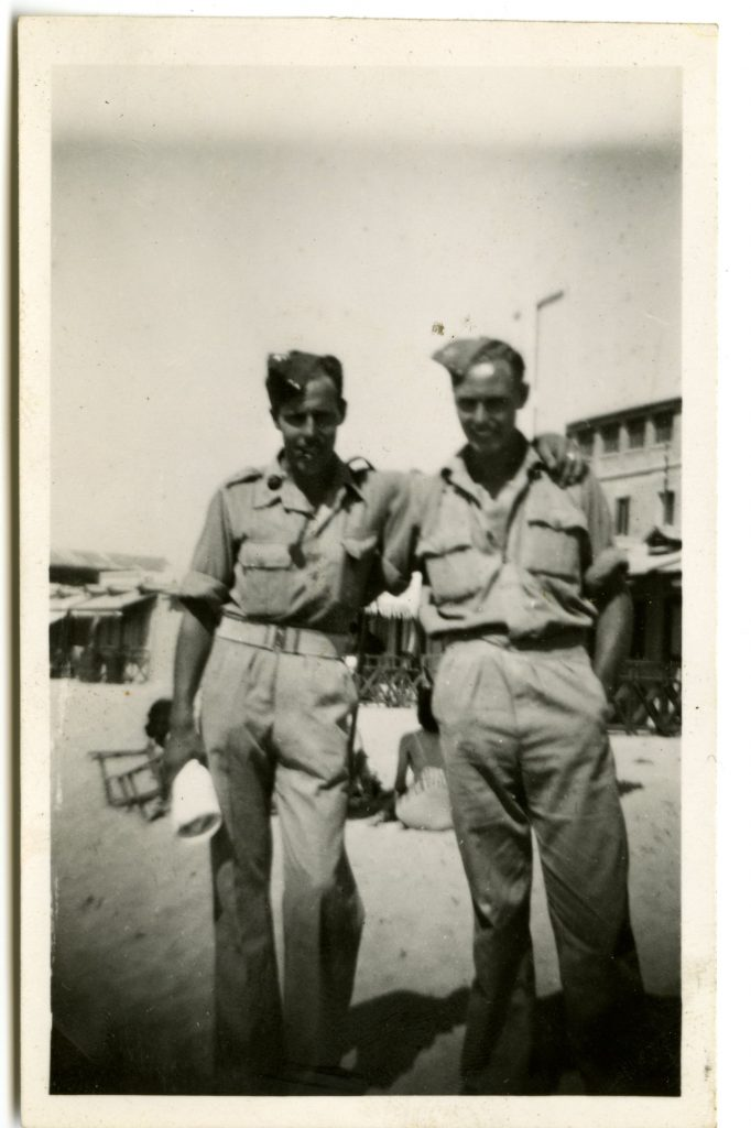 Joe Porter Smeeton and his brother-in-law Tom Hembrow in Alexandria