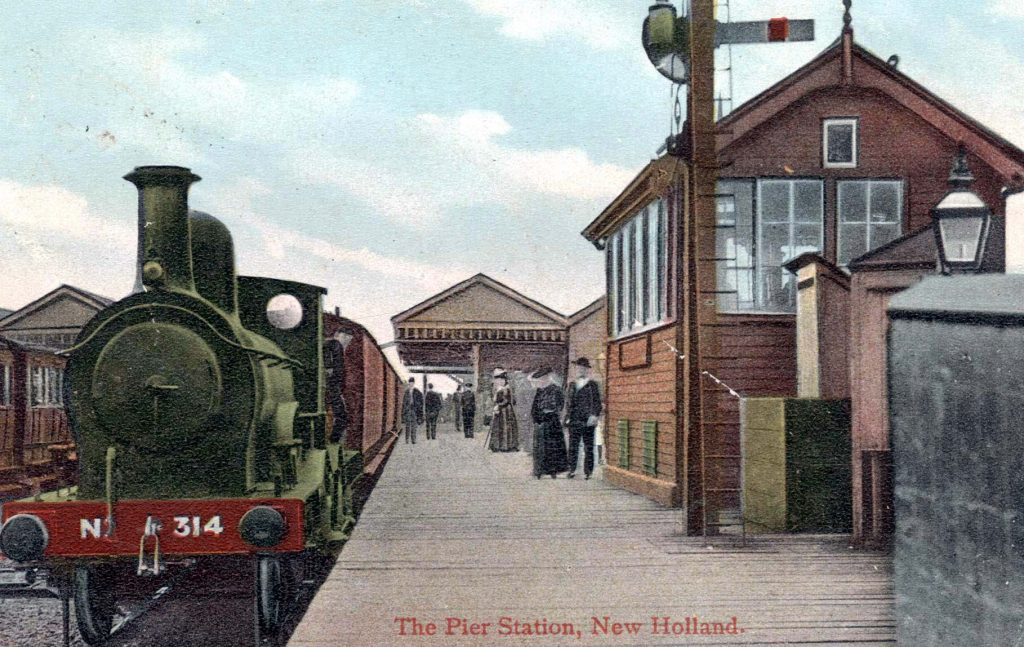 New Holland Pier Station, 1908