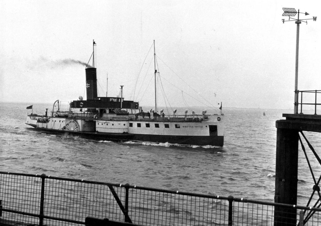 Paddle steamer the Wingfield Castle, which was in service between 1934 and 1974