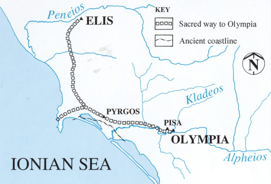Sacred Way from Elis to Olympia
