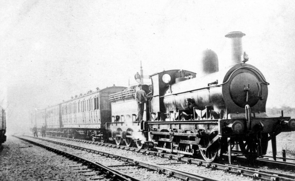 The first public passenger train on the North Lindsey Light Railway at Scunthorpe, 3rd September 1906