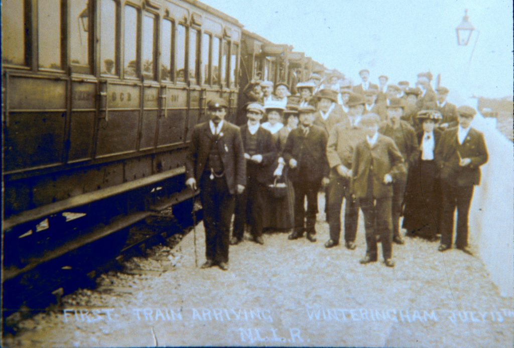The first train arriving at Winteringham, 1906